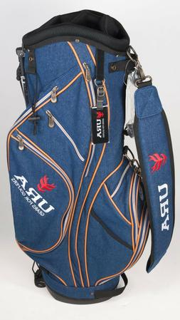 New URA Golf Japanese Brand Stand Bag - Blue Jean Synthetic