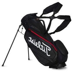 New Titleist Jet Black Premium Stand bag Black/Black/Red