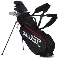 New Titleist Jet Black Premium Tour Stand Bag TB20SXSF-006
