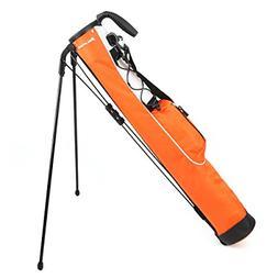Orlimar Pitch & Putt Golf Lightweight Stand Carry Bag, Orang