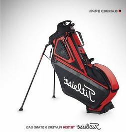 Players 5 Stand Light Golf Bag Black Red  Golf Equipment _m