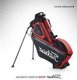 Players 5 Stand Light Golf Bag Black Red  Golf Equipment