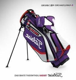 Titleist Players Lightweight Stand Golf Bag Purple Gray Gold