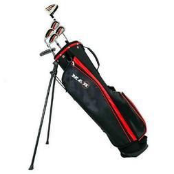 "Ram Golf SGS Mens -1"" Golf Clubs Starter Set with Stand Bag"
