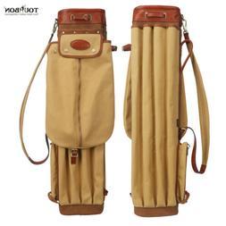Retro 14 Golf Clubs Carry Bag Cart Stand Travel Staff Cover