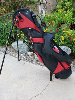 """RJ Golf Bag Typhoon II Stand Bag 3.5 LBS 5 Way 7"""" x 5.5"""" Top"""
