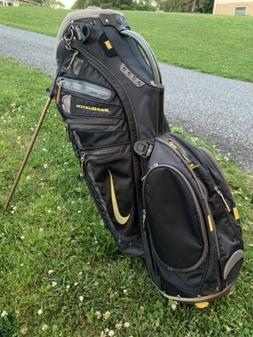 Nike Sasquatch Golf Stand/Cart Bag Black 14 Dividers