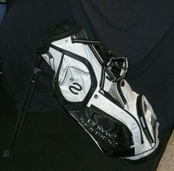 Swing Science SS Stand Golf Bag, White/Black, Shop Wear, New