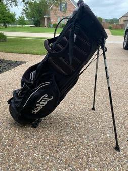*SUPERB* Titleist golf bag stand/6 way/ultra lite *Blk/Wht*