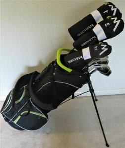 Tall Mens Complete Golf Set - Driver, Wood, Hybrid, Irons Pu