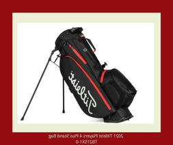 The Latest 2021 Titleist Players 4 Plus Stand Bag- Black /Bl