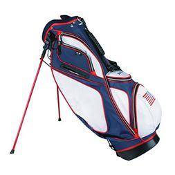 Powerbilt TPS Dunes USA Flag Stand Golf Bag - Red, White, Bl