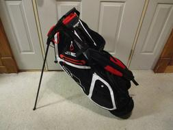 Used Sun Mountain 3.5 LS Stand Golf Bag Black White Red